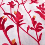 KANGAROO PAW : AUSTRALIAN /  INDIGENOUS : Red : M and S Textiles  : 100% Cotton : FABRICS
