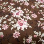 MARRIE : FLORAL : Brown : Timeless Treasurers : 100% Cotton : FABRICS