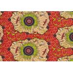 YEERUNG  RED : AUSTRALIAN /  INDIGENOUS : Red : M and S Textiles  : 100% Cotton : FABRICS