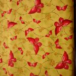 Pink Butterfly : INSECTS AND BUGS : Green : VIP : 100% Cotton : FABRICS