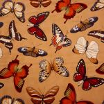 Butterfly Natural : Insects and Bugs : Brown : Timeless Treasurers : 100% Cotton : FABRICS