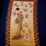 Tea House Panel : ORIENTAL  (Japanese, Asian etc) : Beige : Benertex : 100% Cotton : FABRICS