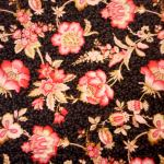 Mayfair Scarlets : Floral : Black : Benertex : 100% Cotton : Fabrics