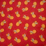 Blees our Home : Animal / Birds : Red : Robert Kaufman Co : 100% Cotton : Fabrics