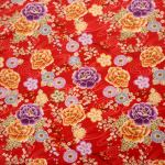 Oriental Garden Red : ORIENTAL  (Japanese, Asian etc) : Red : Macs : 100% Cotton : FABRICS