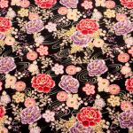 Oriental Garden Black : ORIENTAL (Japanese, Asian etc) : Black : Macs : 100% Cotton : FABRICS