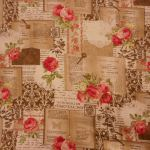 Encyclopedia Beige : Floral : Beige : Macs : 100% Cotton : Fabrics