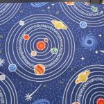 Midnight blue planets : Light Years Range (  Male  ) : Blue : Lewis and Irene Threaded with love : 100% Cotton : FABRICS
