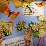 Letters from a Flower Fairy : FANTASY,  Frozen, Fairy etc (Girls) : Blue : Michael Miller : 100% Cotton : FABRICS
