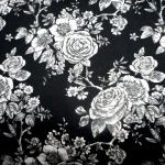 Rose Toile Black : WIDE BACKS  (Quilt Baking         Fabric) : Black : Blank quilting corporation : 100% Cotton : FABRICS