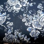 Rose Toile Navy : WIDE BACKS  (Quilt Baking         Fabric) : Navy Blue : Blank quilting corporation : 100% Cotton : FABRICS