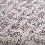 Westminster : Exotics (Gold and silver overprints) : Cream : Fabric Freedom : 100% Cotton : FABRICS
