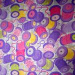 Sew Happy : NOVELTY PRINTS : Mauve : Macs : 100% Cotton : FABRICS