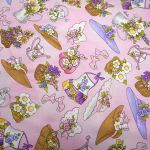 Garden Goodies : NOVELTY PRINTS : Pink : Loralie Designs : 100% Cotton : FABRICS