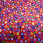 Buttons Galore  : NOVELTY PRINTS : Red : Macs : 100% Cotton : FABRICS