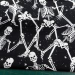 Gothic Glam : NOVELTY PRINTS : Black : Kanvas Studios : 100% Cotton : FABRICS