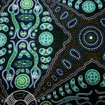 Spirit People 2 Green : AUSTRALIAN /  INDIGENOUS : Green : M and S Textiles  : 100% Cotton : FABRICS