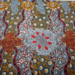 Lillup Dreaming Ash : AUSTRALIAN /  INDIGENOUS : Multi : M and S Textiles  : 100% Cotton : FABRICS