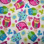 Owls 1 : NOVELTY PRINTS : Multi : Jo Ann : 100% Cotton : FABRICS