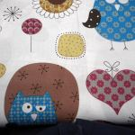 Owls 2 : NOVELTY PRINTS : White : Jo Ann : 100% Cotton : FABRICS