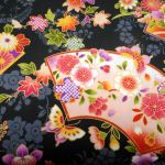 TPt 30 487 : ORIENTAL  (Japanese, Asian etc) : Black : NUTEX : 100% Cotton : FABRICS