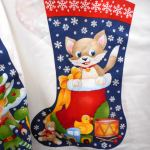 Christmas Stocking : CHRISTMAS : Multi : NUTEX : 100% Cotton : FABRICS