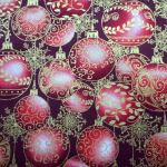 A Festive Season : CHRISTMAS : Gold : Benertex : 100% Cotton : FABRICS