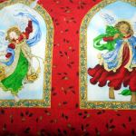 Angels of Xmas : CHRISTMAS : Red : Exclusively Quilters : 100% Cotton : FABRICS