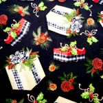 Holiday Gift Toss : CHRISTMAS : Black : Spring Creative : 100% Cotton : FABRICS