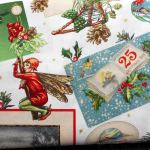 Christmas Greetings : CHRISTMAS : White : Michael Miller : 100% Cotton : FABRICS