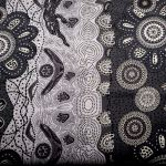 Home Country Ash : AUSTRALIAN /  INDIGENOUS : Black : M and S Textiles  : 100% Cotton : FABRICS