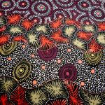 Wild Seed and Waterhole Black : AUSTRALIAN /  INDIGENOUS : Multi : M and S Textiles  : 100% Cotton : FABRICS