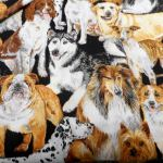 Doggie  Delight : NOVELTY PRINTS : Multi : NUTEX : 100% Cotton : FABRICS