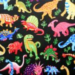 Dinosaur Dance : NOVELTY PRINTS : Multi : NUTEX : 100% Cotton : FABRICS