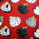 Happy Hens : NOVELTY PRINTS : Multi : NUTEX : 100% Cotton : FABRICS