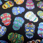 Sugar Skulls : NOVELTY PRINTS : Multi : NUTEX : 100% Cotton : FABRICS
