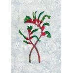 KANGAROO PAW -  WA STATE FLOWER : VINTAGE AUSTRALIAN FLORAL EMBLEMS APPLIQUE KIT : Multi : Batik Australia : 100% Cotton : KITS