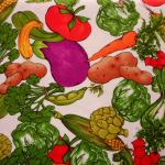 Veggie Jungle : FOOD /  BEVERAGES : Green : Kay Toby : 100% Cotton : FABRICS