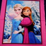 Frozen Panel : FANTASY,  Frozen, Fairy etc (Girls) : Blue : Spring Creative : 100% Cotton : FABRICS